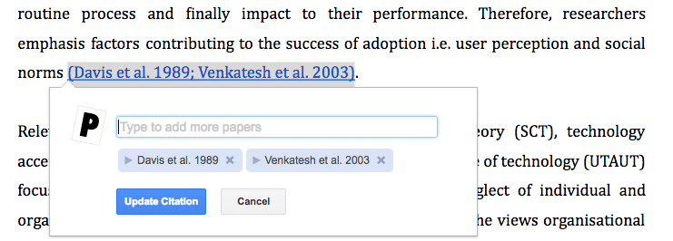 how to change citation style paperpile